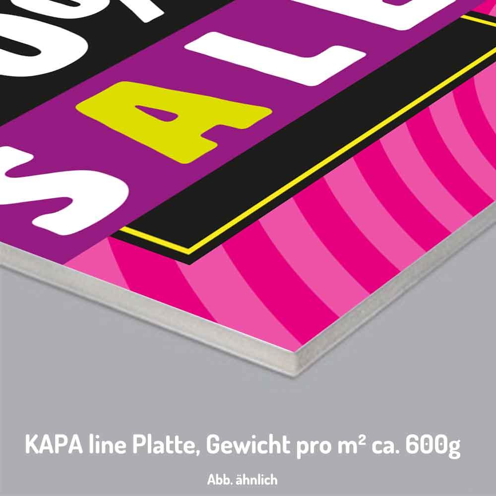 Wiederverwendbare SALE Plakate auf Kapa-Platten