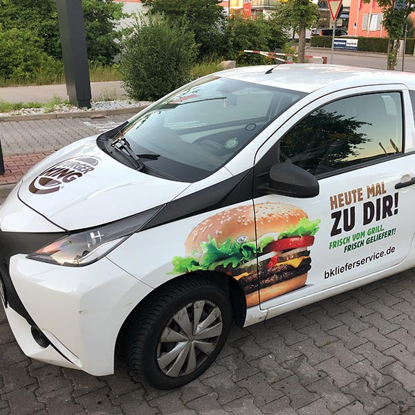 Auto Beschriftung in München