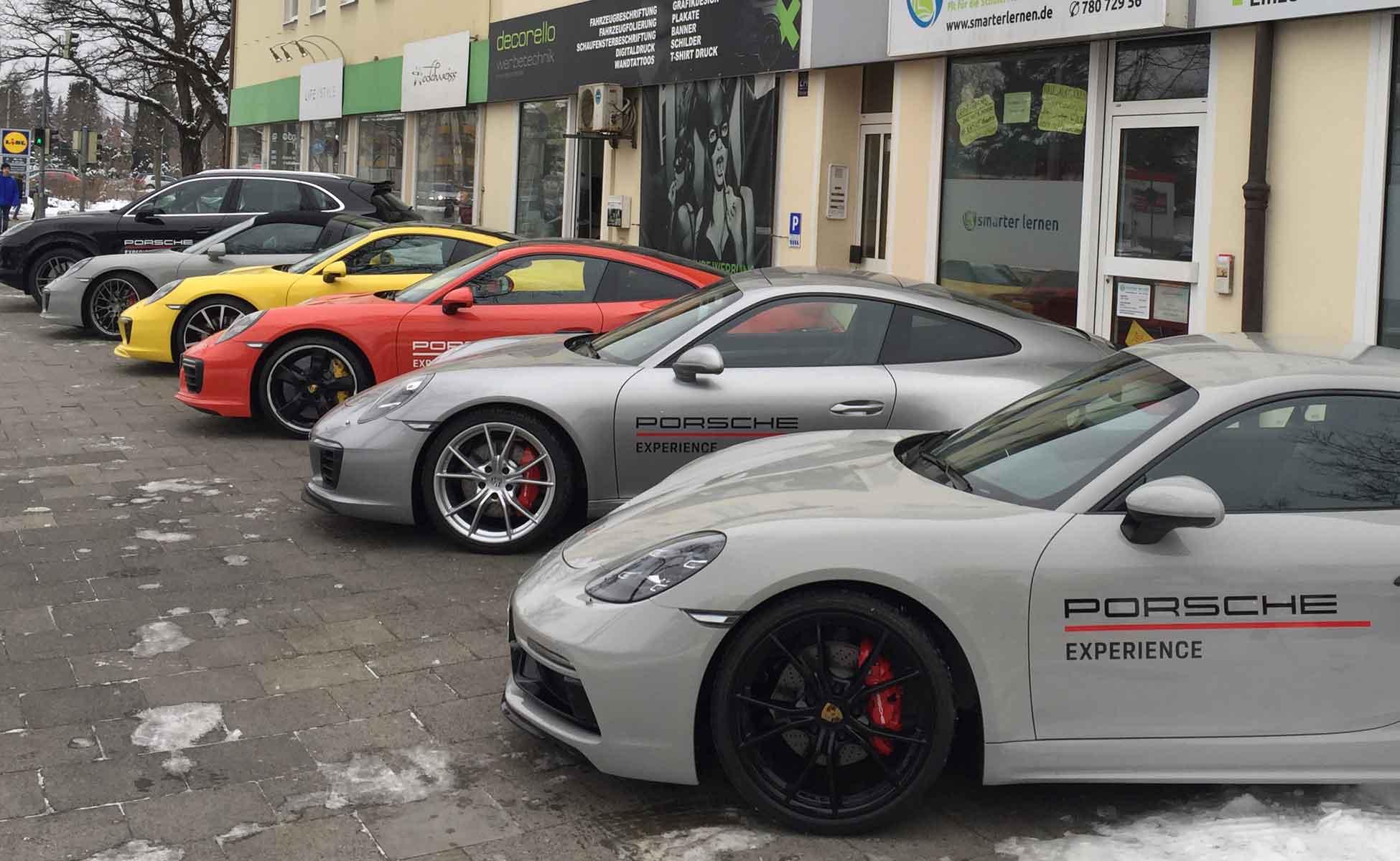 Auto-Beschriftung in München, für Events als kurzfristige Beschriftung
