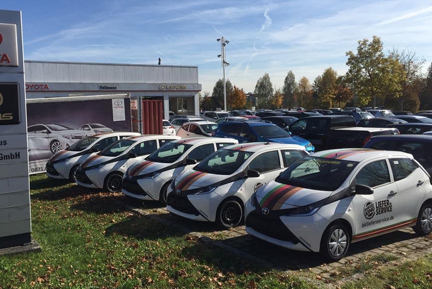Attraktive Konditionen bei Flottenverträgen für die Fahrzeugbeschriftung