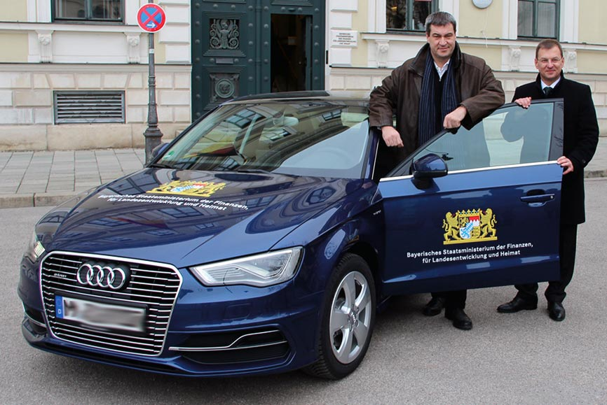 Dr. Markus Söder - Audi A3 Sportback e-tron