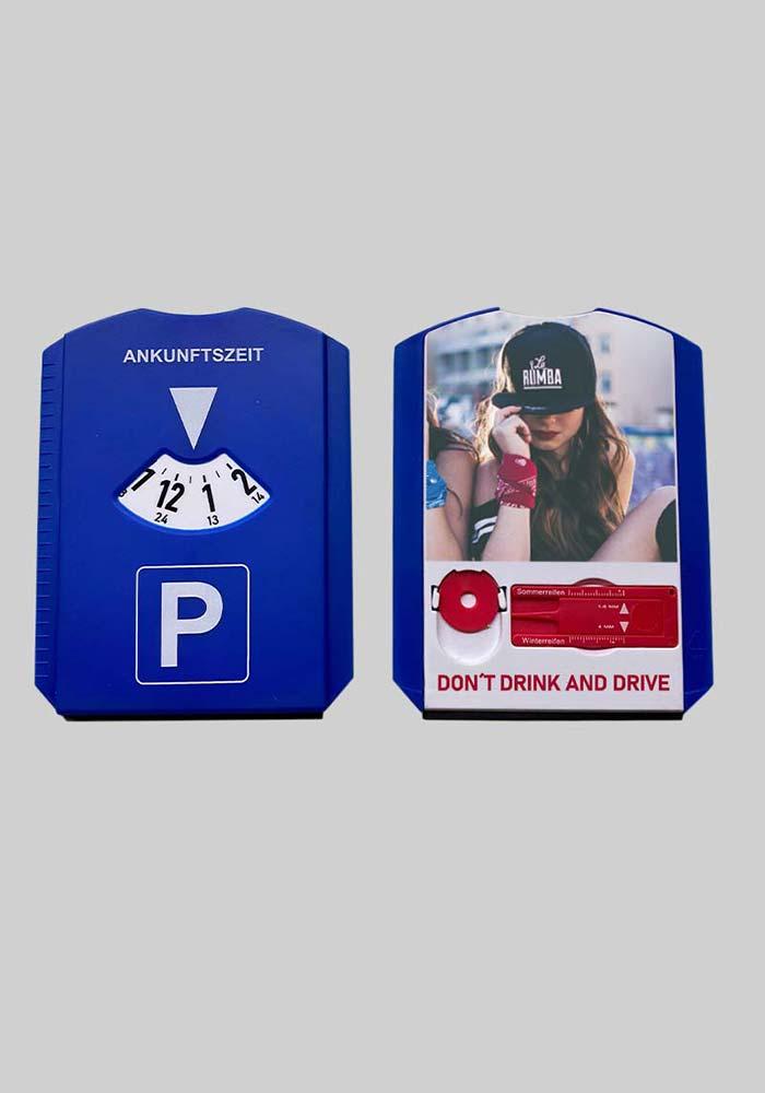 Parkscheibe mit Logo oder Foto Druck