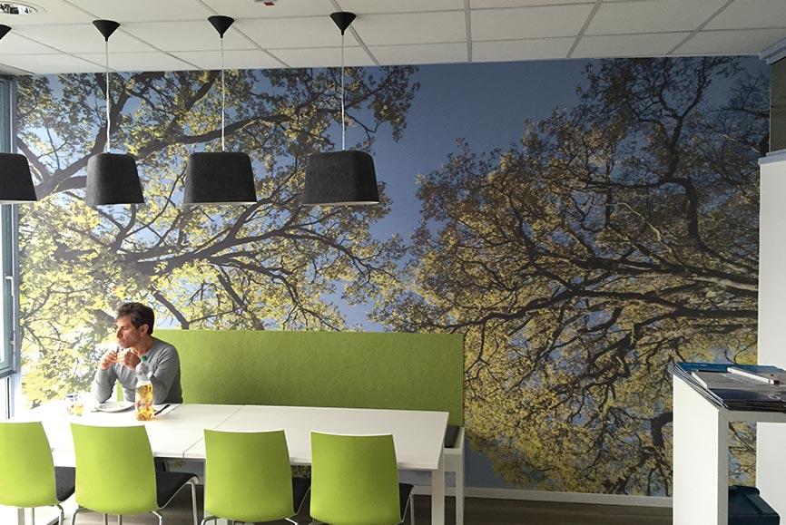Individuelle Fototapete für Büro Kaffeeküche
