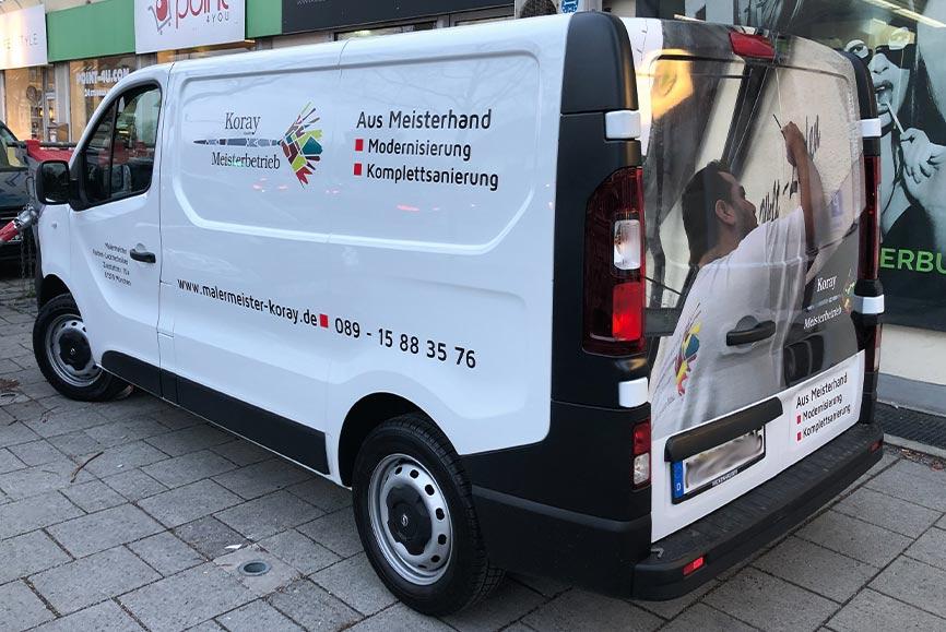 Transporter Beschriftung mit Digitaldruck in München