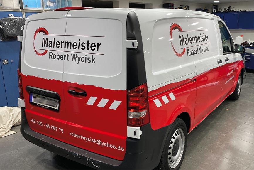 Transporter Werbebeschriftung in München