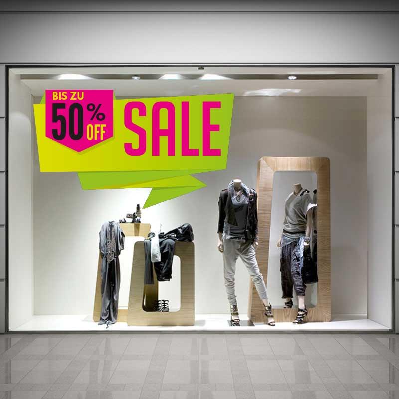 Premium SALE Aufkleber, individuelle Farben und frei konfigurierbare Prozentangabe